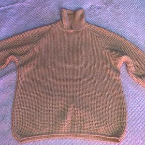 Giorgio Armani Men's 100% Wool Neck Zip Cardigan